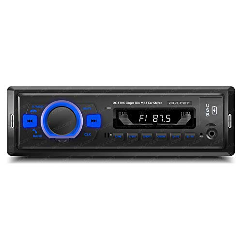 DULCET DC-F30X 220W High Power Output Universal Fit Single Din MP3 Dual USB Ports Car Stereo