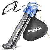 Hyundai 3 in 1 3000W Electric Leaf Blower, 45L Bag, Vacuum & Shredder, 3 Year Warranty, Lightweight & Powerful, 12m Cable, Variable Speed, Telescopic Chute