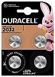 Duracell 2032 Pile bouton lithium 3V, lot de 4, avec Technologie Baby Secure,...