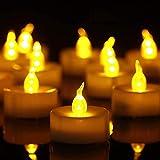 Bougies LED,Bougies Sans Flamme,Lot de 50 bougies LED Bougies CR2032 piles...