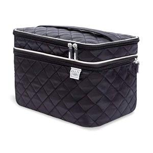 Ellis James Designs Large Travel Makeup Bag for Women - Black Make Up Bag for Women - Travel Cosmetic Bag - Makeup Case… 22
