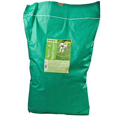 KAS - Sport- und Spielrasen Rasenmischung Rasensaat Rasensamen (10kg) - für Sportflächen und Grünflächen am Haus und im garten - robust und pflegeleicht