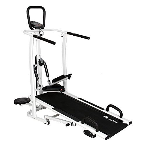 PowerMax Fitness MFT-410 Manual Treadmill with Free Installation Assistance, Home Use &...