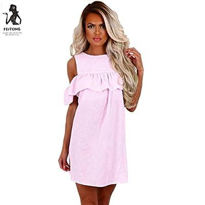 Asian size, run smaller than US size, pls choose one size up Style:Fashion Summer Casual Mini Dress Clothing Length:Mini Sleeve Length:Short Sleeve Collar:O-Neck