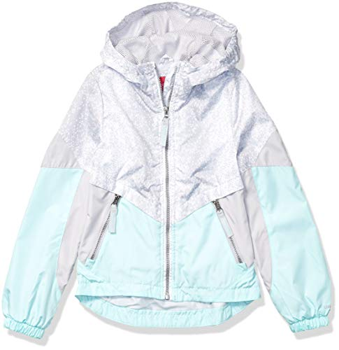 LONDON FOG Girls' Big Tonal Active Jacket, Surf Jack Aqua, 7/8