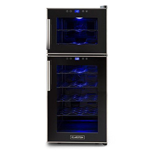 Klarstein Reserva 21 Ccantinetta frigorifero per vino Con 5 Ripiani Estraibili (35 x 82 x 48 cm, 56...