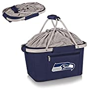 """Material: 50% Polyester/50% EVP & PVC Aluminum-framed basket with polyester canvas Lightweight and fully collapsible Measures approximately 19"""" x 12"""" x 9"""" Water-resistant interior lining"""