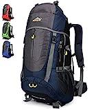 Doshwin Sac à Dos Trekking Camping Voyage Randonnée Grand pour Homme Femme - 70L (Bleu foncé)