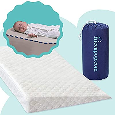 "ELEVATE BABY'S HEAD & TORSO - Our perfect 12 degree incline props up your child's head and body. This raised orientation adds comfort which leads to better sleep 27.25"" WEDGE PASSES ALL FEDERAL SAFETY REGULATIONS - Only crib wedge that has been revie..."