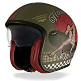 Premier – Casque jet vintage – Motif pin-up