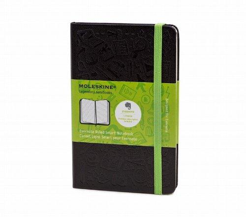 モレスキン Evernote エバーノート スマートノートブック ルールドノートブック(横罫) ポケットサイズ MM710EVERF