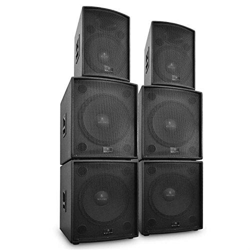 MALONE DJ PA - Set di 6 scatole attive, 10000 W