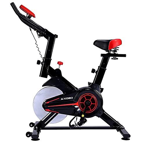 Kobo SB-5 Steel Exercise Spin Bike, Black