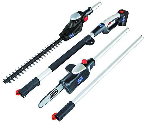 SCHEPPACH MGT410 Outil de Jardinage Multifonction Ergonomique 2 en 1, Taille-Haie et Élagueuse, Batterie 18V, 11,5 Ah et Chargeur Rapide