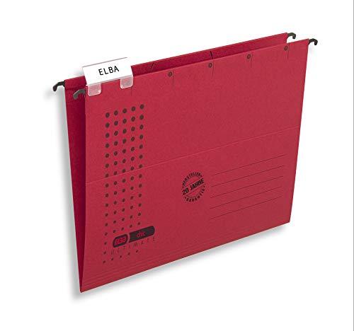 Elba 85740RO - Cartella sospesa'Chic Ultimate', aperta lateralmente, confezione da 25, rosso