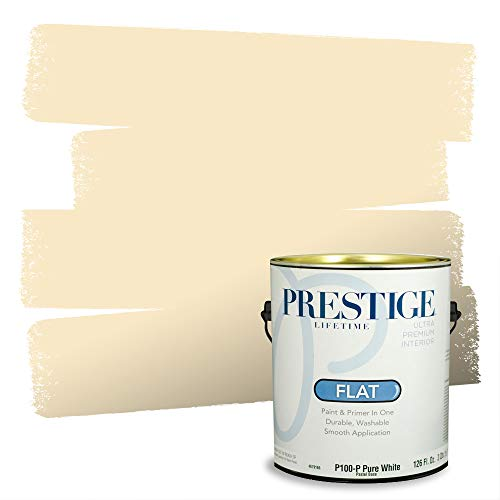 Prestige Paints Interior Paint and Primer In One, 1-Gallon, Flat, Comparable Match of Benjamin Moore Aura