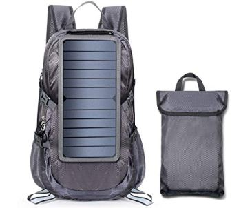 ECEEN Solar Backpack Foldable Hiking Daypack With 5V Power Supply