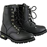 Xelement 2446 'Vigilant' Women's Black Logger Boots with Inside Zipper - 8.5