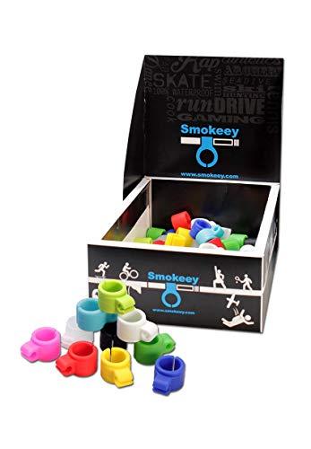 Smokeey - Anillo de fumador para juegos, manos libres, para fumar, sin nicotina, para cigarrillos, accesorio para gaming, accesorio para fumar, accesorio para fumar (azul)