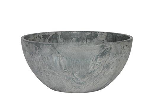 Artstone Pflanzgefäß Pflanzschale Fiona, frostbeständig und leichtgewichtig, Grau, 25x12cm