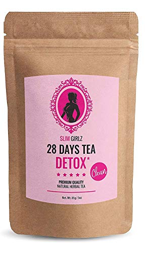 Slim Girlz 28 Days Detox Tea | for Women | Weight Loss | Slimming and Cleanse Tea | Diet and Fat Loss Tea | 3oz Loose Leaf Tea | Natural Dietary Supplement | Without Additives | Active Herbal Complex 1