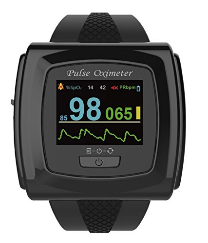 Bluetooth-Enabled 50F Plus Wrist Pulse Oximeter Heart Rate Monitor with Innovo SnugFit Probe (not Compatible with Mac), M430N-WRBK-CTIM-V2, Jet Black