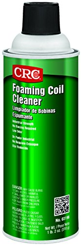 CRC 3196 Foaming Coil Cleaner, 18 oz Aerosol Can, Clear/Yellow