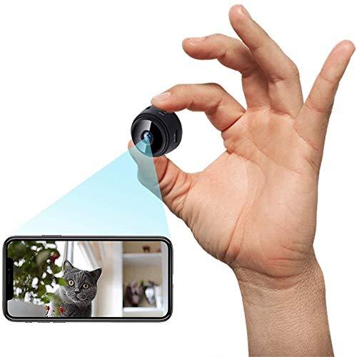 Mini Telecamera Spia Nascosta,Mini Telecamera WiFi Interno Full HD 1080P Portatile Microcamera Nascosta Professionale,Videocamera di Sorveglianza Senza Fili Spy Cam per Esterno/Interno