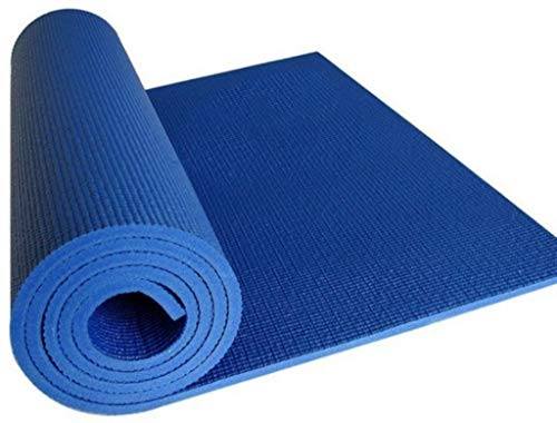 Rinki Home Furnishing Anti Skid & Waterproof Sweat Proof with Dual Side Embossed Gym Exercise & Yoga Mat for Boys and Girls, Men and Women (6MM) (Blue)