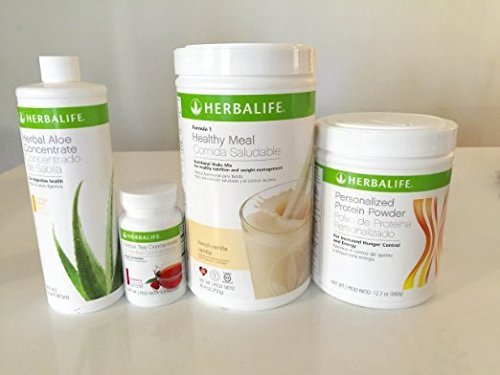 HERBALIFE QUICK COMBO - FORMULA 1 SHAKE MIX (Vanilla), PERSONALIZED PROTEIN, HERBAL ALOE (Mango), HERBAL TEA CONCENTRATE (Raspberry) 1