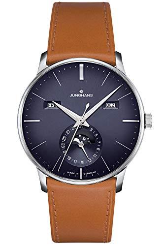 Junghans 027/4906.00 Herren-Uhr Meister Kalender Analog Automatik mit Leder-Band