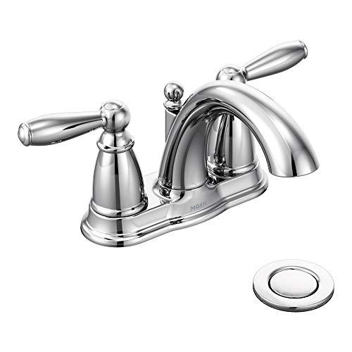 Moen 6610 Brantford Two-Handle Low-Arc Centerset Bathroom...