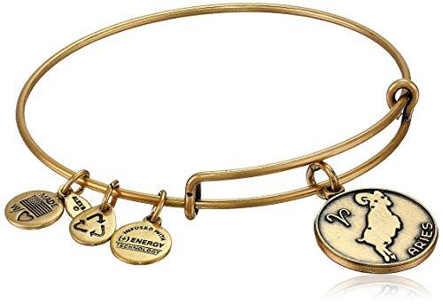 Alex and Ani Rafaelian Gold-Tone Aries II Expandable Wire Bangle Bracelet, 7.25'