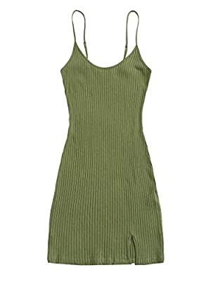 Fabric has some stretch Features: sleeveless, solid, split hem, rib-knit, slim fit, above knee length Fit for daily wear, home, night wear etc Machine washable, handwash recommend Please refer to Size Chart at the product description
