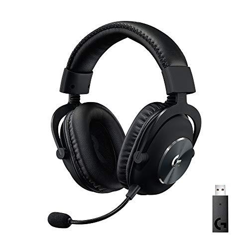 Logitech G PRO X Casque Sans Fil LIGHTSPEED, technologie filtre micro Blue VO!CE, transducteurs 50 mm PRO-G, DTS, son multicanal X 2.0, écouteurs à mousse à mémoire de forme, Batterie +20h - Noir