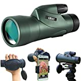 Gosky 12x55 High Definition Monocular Telescope and Quick Smartphone Holder - 2019 Newest Waterproof...