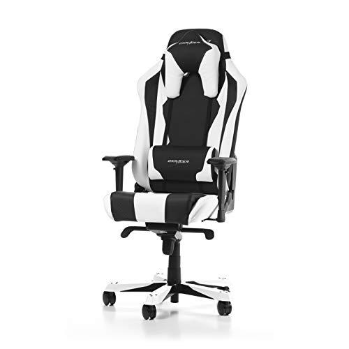 DXRacer (l'original) Sentinel S28 Chaise Gaming, Similicuir, Noir & Blanc, 180-205 cm