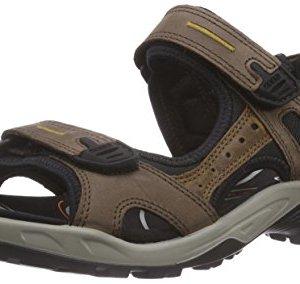 ECCO Men's Yucatan outdoor offroad hiking sandal, Espresso/Cocoa Brown/Black, 44 EU (US Men's 10-10.5 M)