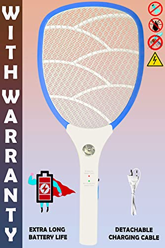 Weird Wolf Wide Range Rechargeable Mosquito Killer Bat Racket with Warranty(Multicolour)