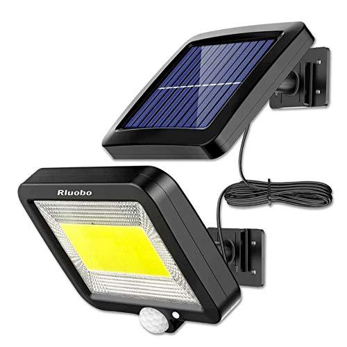 Luce Solare LED Esterno, Rluobo Lampada Solare con Sensore di Movimento cavo 16 piedi 100 LED Luce da Esterno, 270 Di Illuminazione con 3 Modalit, Impermeabile IP65 per cortile, giardino