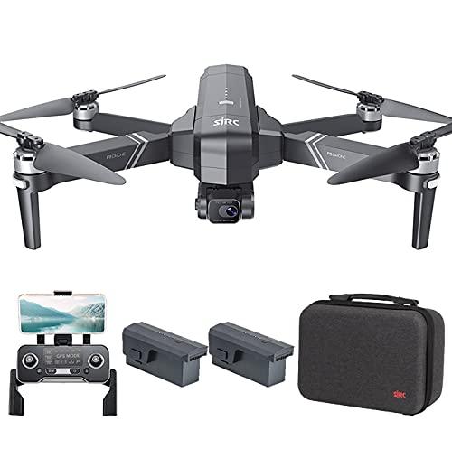 Consegna 3~7 Giorni, SJRC F11 4K PRO GPS Drone con EIS Telecamera 4K HD, Gimbal WiFi FPV a 2 Assi, Motore Senza Spazzole, Distanza di Controllo di 1,5km Quadricottero Professionale Droni, 2 Batterie
