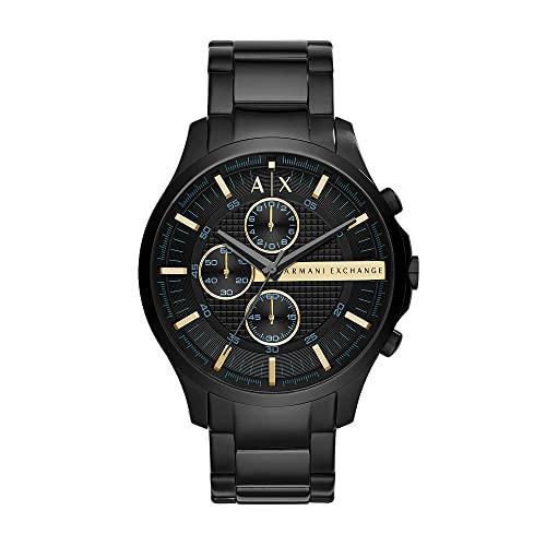Armani Exchange Herren Chronograph Quarz Uhr mit Edelstahl Armband AX2164