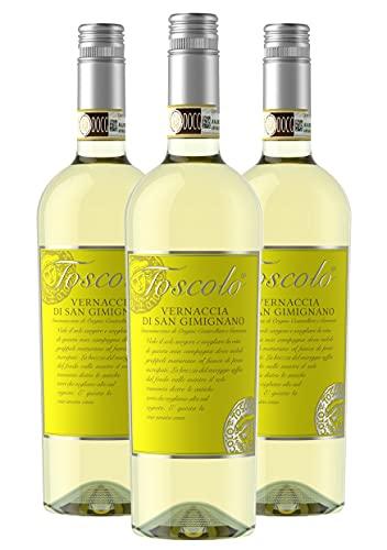 Toscolo Vernaccia di San Gimignano 2020 - Vino Toscano Bianco - DOCG - 0.75L (3 Bottiglie)