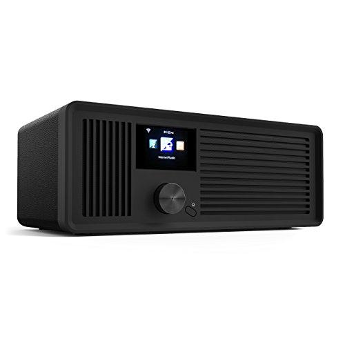 sky vision DAB 70 IR – Stereo DAB Plus Radio, WLAN Internet Radio (DAB+, FM UKW, Radio WLAN-fähig, mit AUX-Anschluss Plus Kabel, Digital Radio Wecker, mit Fernbedienung), schwarz