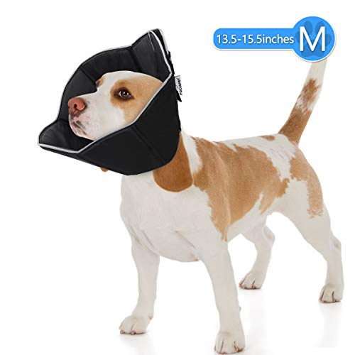 FOCUSPET Dog Cone Collar for Surgery, Pet Recovery Collar for After Surgery, Dogs & Cats Soft Medium Size (13.5-15.5inches) Recovery Collar Protective Collar for Large Dogs Wound Healing