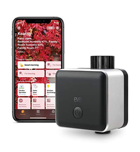 Eve Aqua - Smart Water Controller for Home app or Siri, irrigate Automatically with schedules, Easy to use, Remote Access, no Bridge, Bluetooth, HomeKit