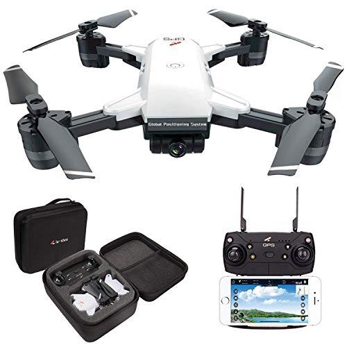 le-idea 10 GPS Drone FPV 1080P con videocamera HD grandangolare Video in Diretta, Quadricottero Altitude Hold, Facile per Principianti, Borsa per Il Trasporto,Manuale Italiano