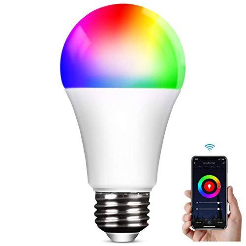 Bombilla LED Inteligente WiFi Smart,Aweskmod E27 9W Bombilla...