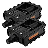 Meprotal 2 Pack PP 9/16' Mountain Bicycle Pedal Bike Accessories Cycling Flat Pedal Replacement for BMX, Mountain, MTB, Beach Cruiser, Scooter, Folding Bike