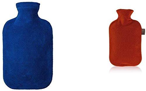 Fashy 6530 54 2007 - Borsa per l'acqua Calda da 2 l con Fodera in Panno, Colore: Blu
